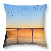 Sailing Out To Sea... Throw Pillow