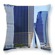 Sailing Past The Skyscrapers Throw Pillow