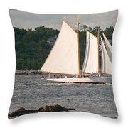 Sailing Portland Throw Pillow