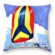 Sailing Primary Colores Spinnaker Throw Pillow