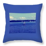 Sailing Seattle  Throw Pillow