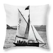 Sailing Ship Cutter Throw Pillow