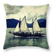 Sailing Ship Throw Pillow