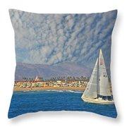 Sailing The Blues Away  Throw Pillow