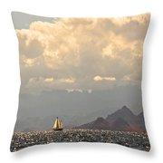 Sailing The Sea Of Cortez Throw Pillow