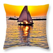 Sailing The Seven Seas Throw Pillow