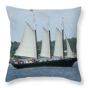 Sailing Through History Throw Pillow