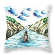 Sailing Through Throw Pillow