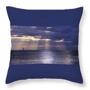 Sailing Through The Sun Rays 2. Throw Pillow