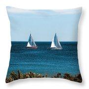 Sailing Watch Hill Ri Throw Pillow