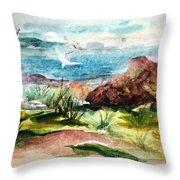 Sailing Towards Anywhere Throw Pillow