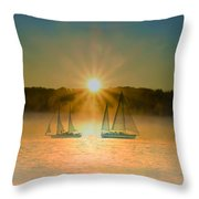 Sailing When The Sun Comes Up Throw Pillow