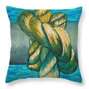 Sailor Knot 9 Throw Pillow