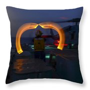 Sailor Signals Throw Pillow
