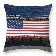 Sailors And Marines Display Throw Pillow by Stocktrek Images