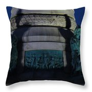 Sailors And Soldiers Monument By Night Throw Pillow by Stephen Melcher
