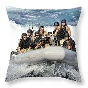 Sailors Conduct Maneuvers Throw Pillow