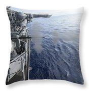 Sailors Fire A 25mm Machine Gun Aboard Throw Pillow