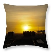 Sailors Muster For Quarters Throw Pillow