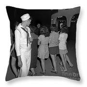 Sailors Night Out Throw Pillow