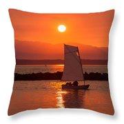 Sailors Solitude 1 Throw Pillow