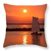 Sailors Solitude 2 Throw Pillow