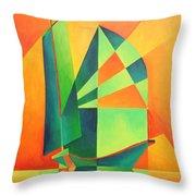 Sails At Sunrise Throw Pillow