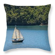 Sails In The Wind Throw Pillow