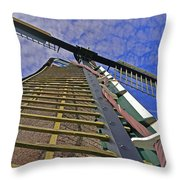 Sails Of A Windmill Throw Pillow