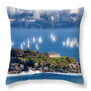 Sails Out To Play Throw Pillow