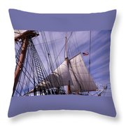 Sails Ready Throw Pillow