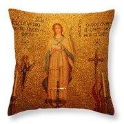 Saint Agnes Throw Pillow