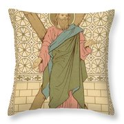 Saint Andrew Throw Pillow