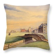 Saint Andrews Golf Course Scotland - 18th Hole Throw Pillow