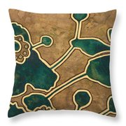 Saint Anemone Sylvestris Throw Pillow