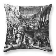 Saint-aubin Louvre, 1753 Throw Pillow