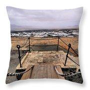 Saint Barbara Castle Near Teguise Throw Pillow