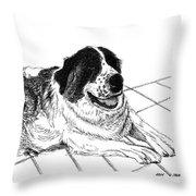 Saint Bernard Bailey Throw Pillow