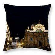 Saint Blaise Church - Dubrovnik Throw Pillow