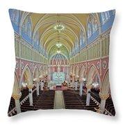 Saint Bridgets Church Throw Pillow