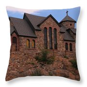 Saint Catherine Of Siena Chapel Throw Pillow