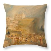 Saint Catherine's Hill Throw Pillow