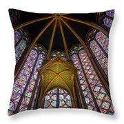 Saint Chapelle Windows Throw Pillow