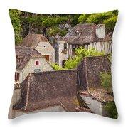 Saint Cirq Rooftops Throw Pillow