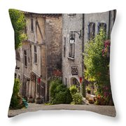 Saint Cirq Street Throw Pillow