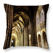 Saint Denis Cathedral Throw Pillow by Olivier Le Queinec