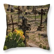 Saint Dominic Cemetery At Old D'hanis Texas Throw Pillow