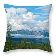 Saint Elias Mountains In Kluane National Park-yk  Throw Pillow