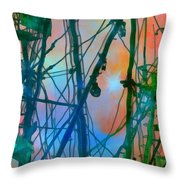 Saint Elmo's Fire Throw Pillow