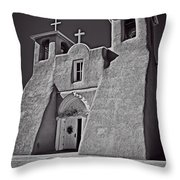 Saint Francis In Black And White Throw Pillow